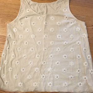 Daisy pattern tank by Loft